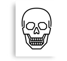 Skull Line Logo Canvas Print