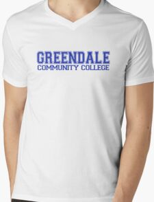 GREENDALE College Jersey (blue) Mens V-Neck T-Shirt