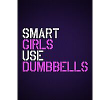 Smart Girls Use Dumbbells Photographic Print