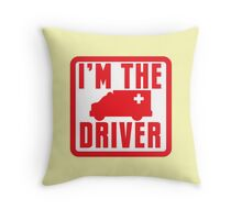 I'm the ambulance DRIVER in red Throw Pillow