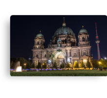 Berlin Cathedral and Fernsehturm Canvas Print