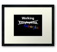 Walking Google Framed Print