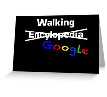 Walking Google Greeting Card