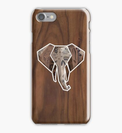 Wooden Elephant iPhone Case/Skin