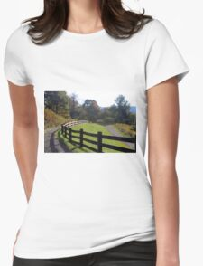 Country fence Womens Fitted T-Shirt