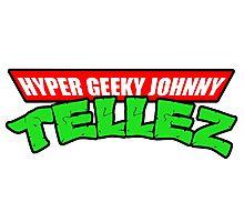 Hyper Geeky Johnny Tellez logo Photographic Print