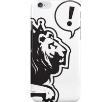 Design Lion Line iPhone Case/Skin