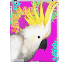 7 DAYS OF SUMMER- ART TOTES AND PILLOWS-COCKATOO IN PINK iPad Case/Skin