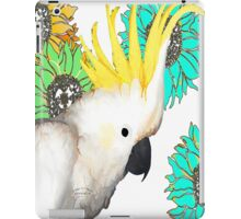 7 DAYS OF SUMMER- ART TOTES AND PILLOWS-Cockatoo Flower Power iPad Case/Skin