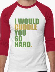 cuddle (must/grn) Men's Baseball ¾ T-Shirt