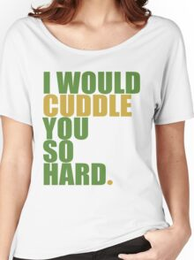 cuddle (must/grn) Women's Relaxed Fit T-Shirt