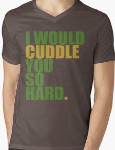 cuddle (must/grn) Mens V-Neck T-Shirt