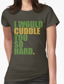 cuddle (must/grn) Womens Fitted T-Shirt