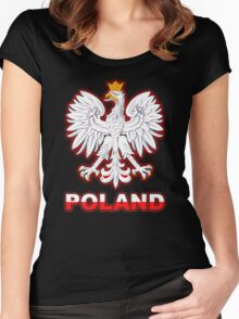 Poland - Polish Coat of Arms - White Eagle Women's Fitted Scoop T-Shirt