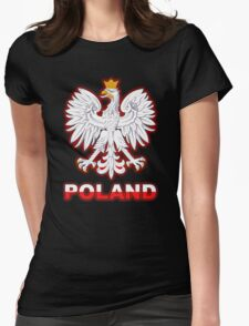 Poland - Polish Coat of Arms - White Eagle Womens Fitted T-Shirt