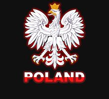 Poland - Polish Coat of Arms - White Eagle Unisex T-Shirt