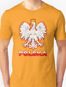 Polska - Polish Coat of Arms - White Eagle Unisex T-Shirt