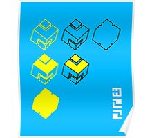 Cubes of the Line Poster