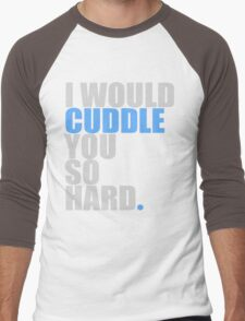 cuddle (blue) Men's Baseball ¾ T-Shirt