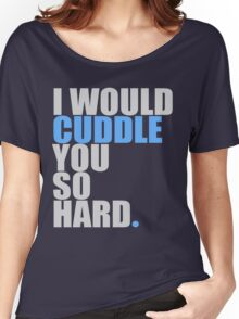 cuddle (blue) Women's Relaxed Fit T-Shirt