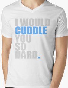 cuddle (blue) Mens V-Neck T-Shirt