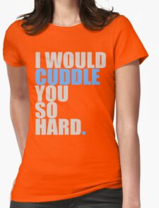 cuddle (blue) Womens Fitted T-Shirt