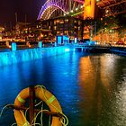 Vivid Sydney in Walsh Bay by Erik Schlogl