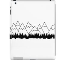 black and white mountains iPad Case/Skin