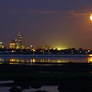 Full Moom rising over Melbourne by wayne51
