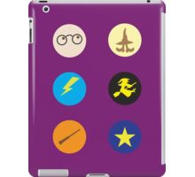 HP stickers wizards hats and lightning bolts iPad Case/Skin