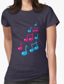 Cute musical notes Womens Fitted T-Shirt