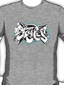 DZYNES Graffiti Cat n Bubbles T-Shirt