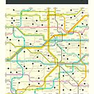 ALABAMA MAP by JazzberryBlue