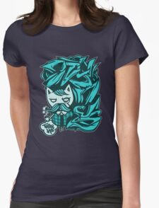 Tally-Ho! Blue Womens Fitted T-Shirt