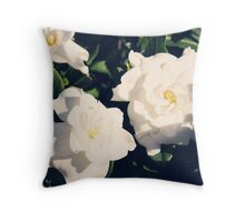 Gardenia Flowers Throw Pillow