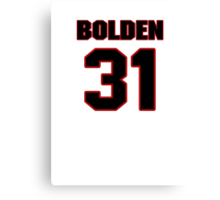 NFL Player Omar Bolden thirtyone 31 Canvas Print