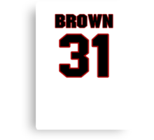 NFL Player Omar Brown thirtyone 31 Canvas Print