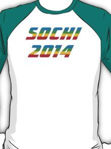 Sochi 2014 Rainbow Text T-Shirt
