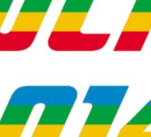 Sochi 2014 Rainbow Text Sticker