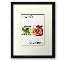 Monster Hunter- Lover's Quarrel Framed Print