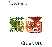 Monster Hunter- Lover's Quarrel Photographic Print