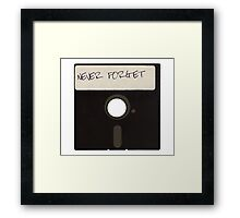 Never Forget Computer Floppy Disks Framed Print