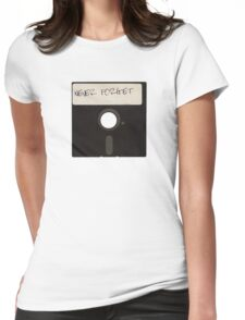 Never Forget Computer Floppy Disks Womens Fitted T-Shirt