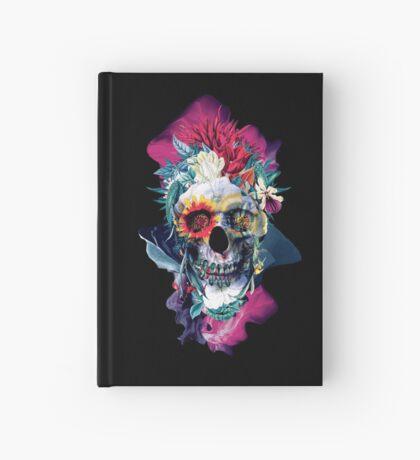 Floral Skull Blue Hardcover Journal