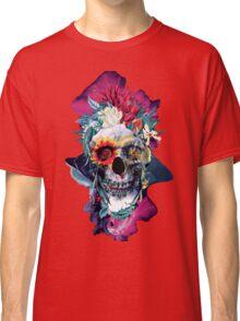 Floral Skull Blue Classic T-Shirt