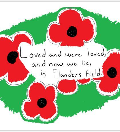 Flanders Field Sticker