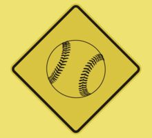 Baseball or Softball - Traffic Sign - Diamond Kids Tee
