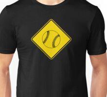 Baseball or Softball - Traffic Sign - Diamond Unisex T-Shirt