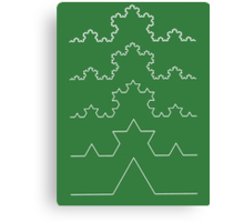 The Koch Curve Canvas Print