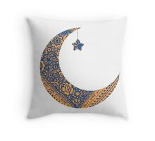Moon and star Throw Pillow